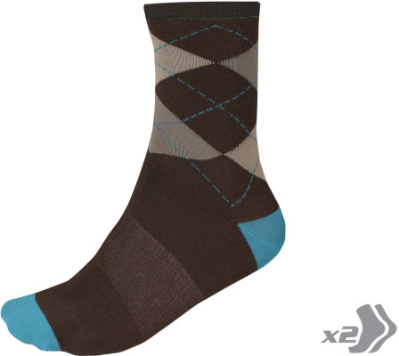 Endura Argyll Sock (Twin Pack)