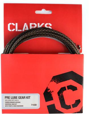 Clarks Pre-Lube Universal Derailleur Kit w/ Dirt Shield Carbon