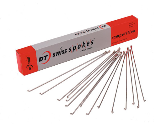 DT Swiss Competition silver spokes 14 / 15 g = 2 / 1.8 mm box 100