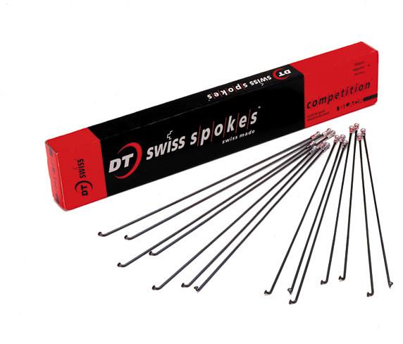 DT Swiss Spoke Competition JB 2.0-1.8 Black Multiple Length 234-293mm