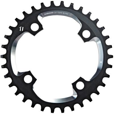 Sram X01 Chain Ring - 34T X-Sync 94Bcd Alum 5Mm Black W Cnc Silver (11Spd)