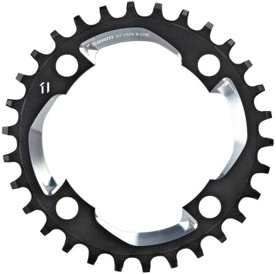 Sram X01 Chain Ring - 30T X-Sync 94Bcd Alum 5Mm Black W Cnc Silver (11Spd)