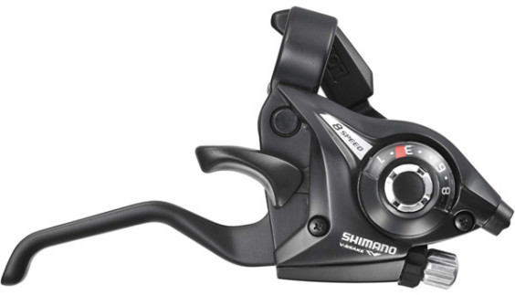 Shimano ST-EF51 Altus EZ fire plus STI 8-speed set, 2-finger lever, black