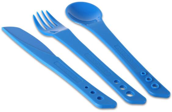 Lifeventure Ellipse Knife, Fork & Spoon Set - Blue