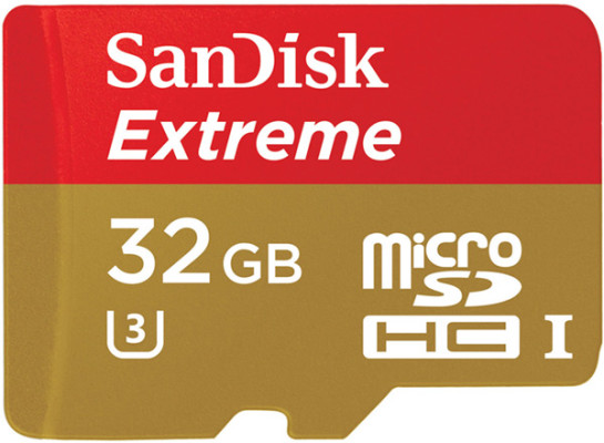 Sandisk 32 GB Extreme Micro SD card