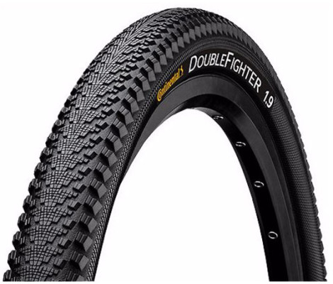 """Continental Double Fighter III 26 x 1.9"""" Black Tyre"""