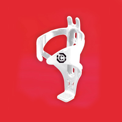 Clarks Polycarbonate Bottle Cage W/Bolts White