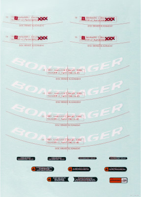 Bontrager Aeolus 3 Rim Decal Sets
