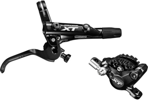Shimano BR-M8000 XT bled I-spec-II compatible brake lever and calliper, rear left
