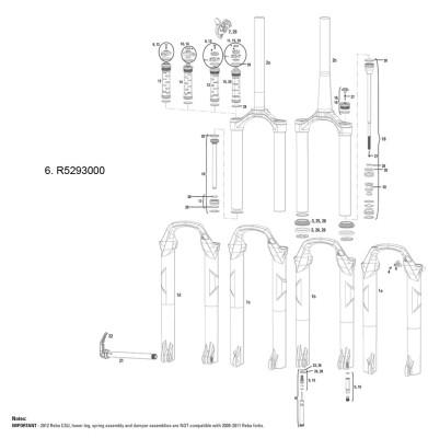 Rock Shox Rockshox Rebound Damper Adjuster Knob/Shaft Bolt Kit Sid 08-15/Reba 12-15