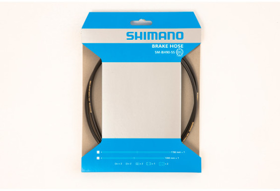 Shimano SM-BH90 straight connection cuttable hose, front, black