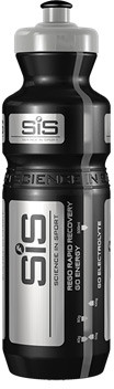 SIS Black and Silver PRO branded water bottle, 800 ml