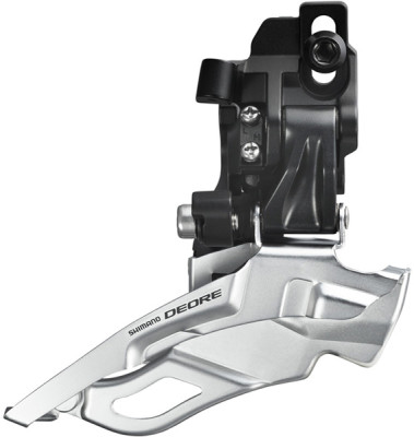 Shimano FD-M611 Deore 10-speed triple front derailleur, dual-pull, direct-fit, black