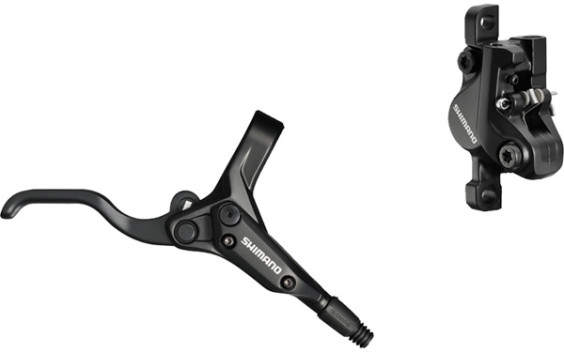 Shimano BR-M395 / BL-M425 bled disc brake lever and post mount calliper, front