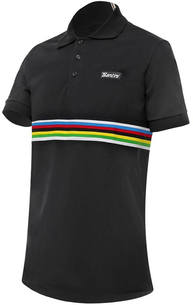 Santini Uci Short Sleeve Cotton Polo Shirt - Shop  6457d394d