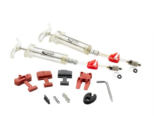 Sram Pro Brake Bleed Kit (Includes 2 Syringes/Fittings Bleed Blocks Torx Tool Crow'S Foot Bleeding Edge Fitting) - Sram X0/ Xx/ Guide/Level/Hydror