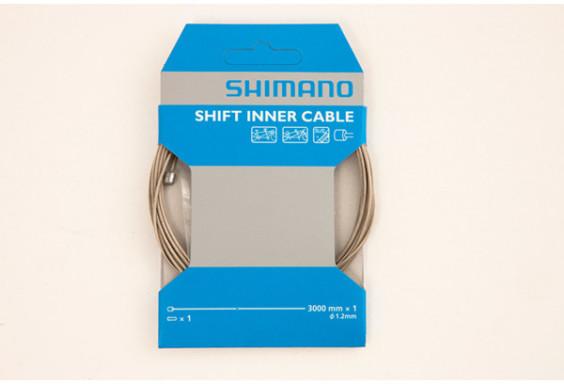 Shimano Road / MTB tandem steel gear inner wire, 1.2 x 3000 mm, single