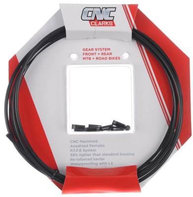 Clarks Zero-G Road Gear Kit W/2200Mm Alloy Housing 2100Mm Front & 2100Mm Rear Teflon-Treated Wires, Black