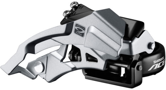 Shimano Acera M3000 triple front derailleur top swing, dual-pull, 9-speed 66-69