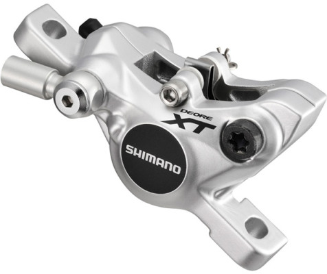 Shimano BR-M785 XT disc brake calliper, front or rear without adapter, silver