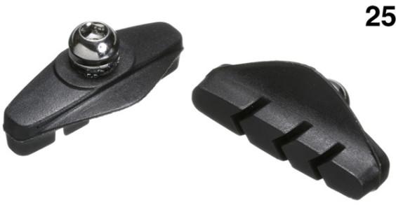 Aztec Control Block Calliper Brake Blocks For Road  - W/Shop Pack of 25 Pairs