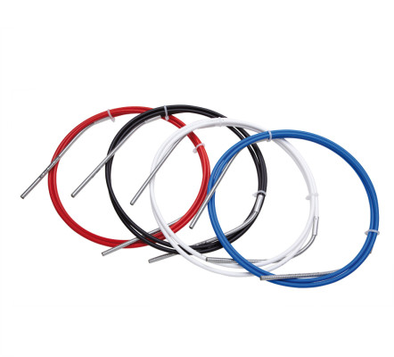 Sram Slickwire Road And Mtb Shift Cable Kit White 4Mm (2X 2300Mm 1.2Mm Coated Cables, 4Mm Nylon Braided Housing, Ferrules, End Caps, Frame Protectors)