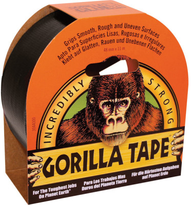 Miscellaneous Wholesale Gorilla Black Tape 11m x 48mm Pack of 6