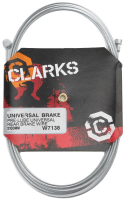Clarks Mtb Pre-Lube Inner Brake Wire Pear Nipple L2100Mm Fits All Major Systems