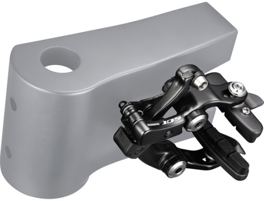 Shimano BR-5710 105 brake callipers, Direct mount, black, rear