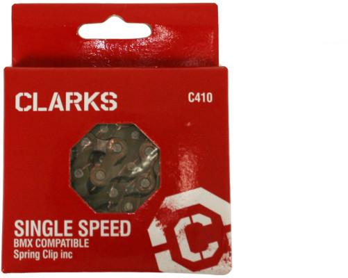 Clarks Bmx/Freestyle/Fixie/Track Single Speed Chain 1/2X1/8 X112 Links Spring Clip Inc.
