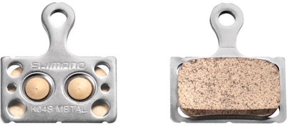 Shimano K04S disc brake pads, steel backed, metal sintered