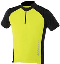 Children S Sprint Short Sleeve Jersey Yellow Black Age 5 - 6 711443a51