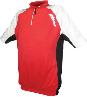 Children'S Sprint Short Sleeve Jersey Red/White Age 10 - 12