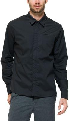 Waxed Cotton Wind Shirt Jet Black L