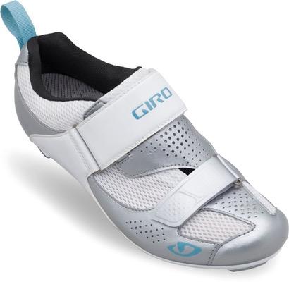 Flynt Women'S Triathlon Cycling Shoes Silver/White/Blue 36